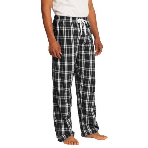 Flannel Plaid Pants (Men's Black)