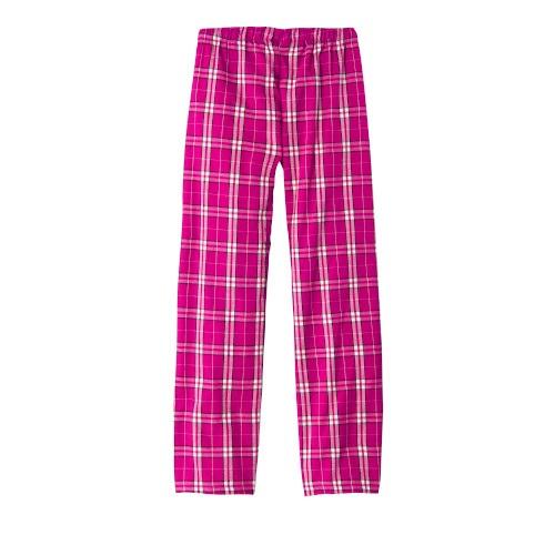 Flannel Plaid Pants (Ladies Dark Fuchsia)