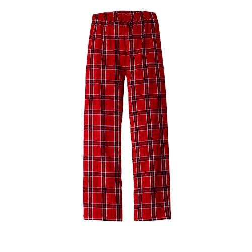 Flannel Plaid Pants (Ladies New Red)
