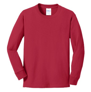 Red Youth Long Sleeve Tee