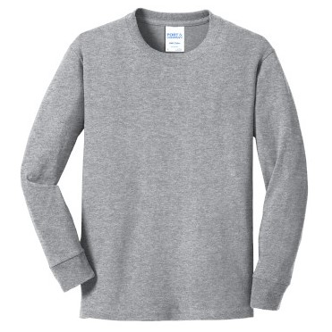 Athletic Heather Youth Long Sleeve Tee