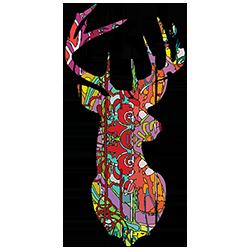 Buck/Deer Head (Colorful)