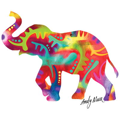 Elephant (Colorful - Andy Maxx)