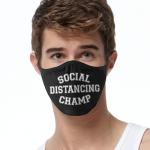 Face Mask Print (Social Distancing Champ)