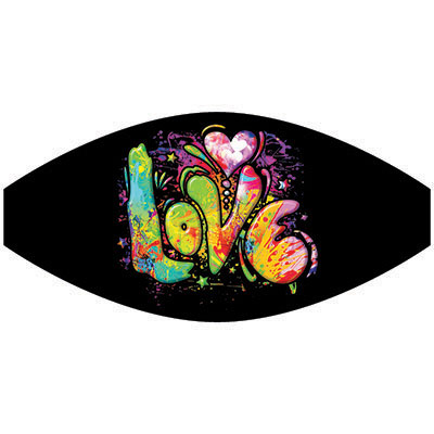 Face Mask Print (Colorful Love)