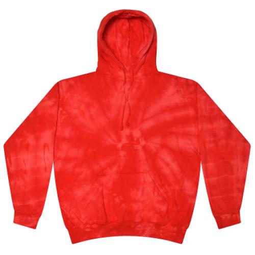 Spider Red Tie-Dye Pullover Hooded Sweatshirt
