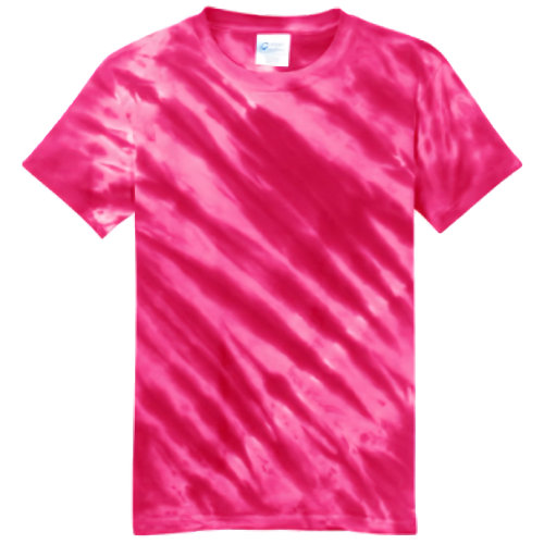 Pink Tiger Stripe Youth Tie Dye Tee