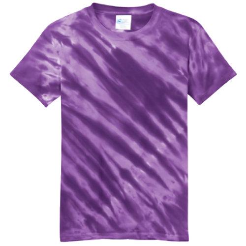 Purple Tiger Stripe Youth Tie Dye Tee