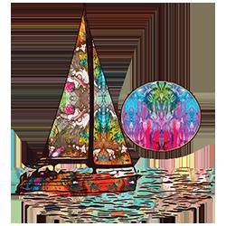 Sailboat (Colorful)
