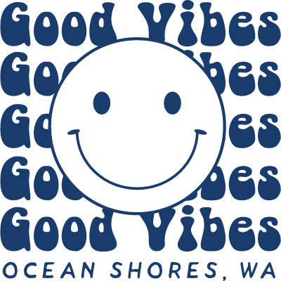 Good Vibes (Happy Face) Blue