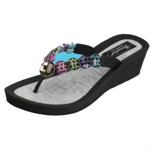 Anodized Wedge Thong Sandal