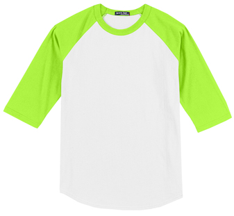White/Neon Green BB-Tee