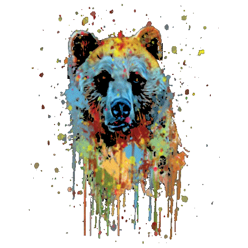 Bear (Paint Drip)