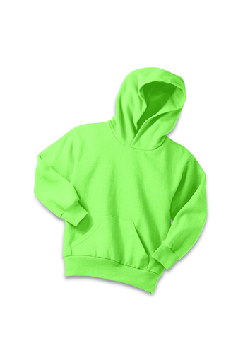 Neon Green Youth Pullover Hooded Sweatshirt