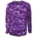 Tie Dye Crystal Purple Long Sleeve Tee