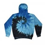 Tie Dye Blue Ocean Youth Pullover Hooded Sweatshirt
