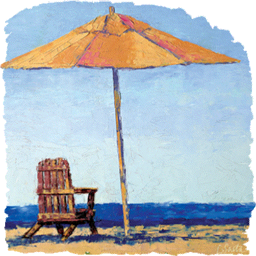 Beach Chair with Umbrella (Relaxing)