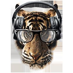 Freaky Tiger (Glasses/Headphones)
