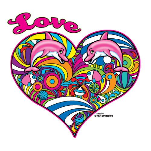 Heart (Love Dolphin Colorful)