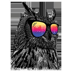 Owl (Cool w/ Glasses)