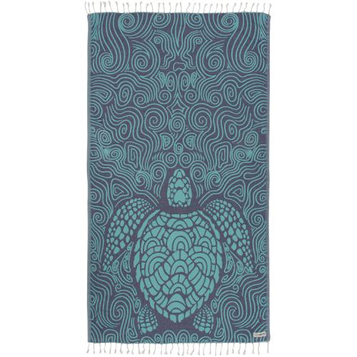 Sand Cloud Towel (Mint Swirl Turtle)