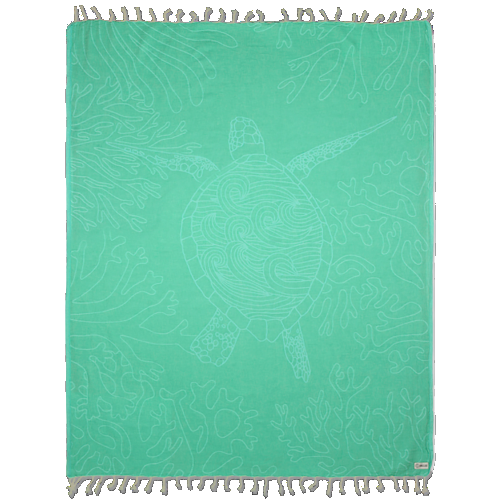 Sand Cloud Large Towel (Turquoise Sea Turtle Reef)