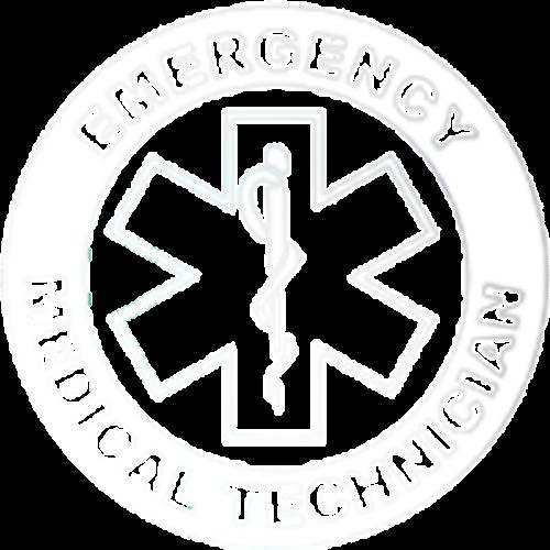 Emergency Medical Technician (White Pocket Print)