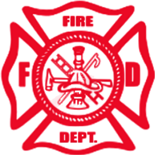 Fire Department (Red Pocket Print)