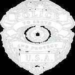 Police Badge (White Pocket Print)