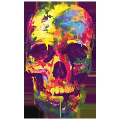 Skull (Paint Drip)