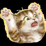 Cat (Surprised/Paws Up)