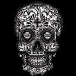 Skull (Sugar Skull – Black and White)
