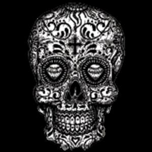 Skull (Sugar Skull - Black and White)