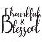 Thankful and Blessed (Black)