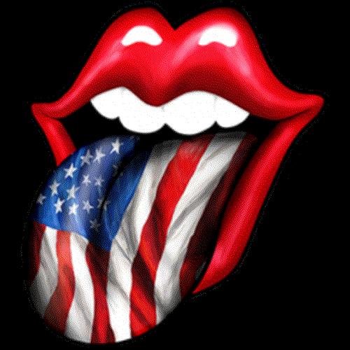 Lips (Tongue - American Flag)