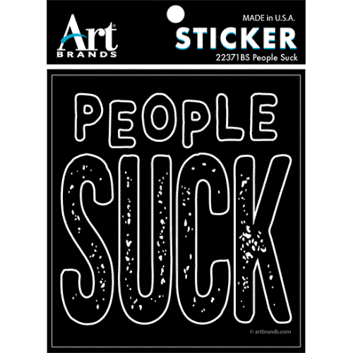 PEOPLE SUCK STICKERS