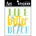 BETTER AT THE BEACH STICKERS