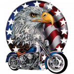 Motorcycle (Red White Bold – Eagle)