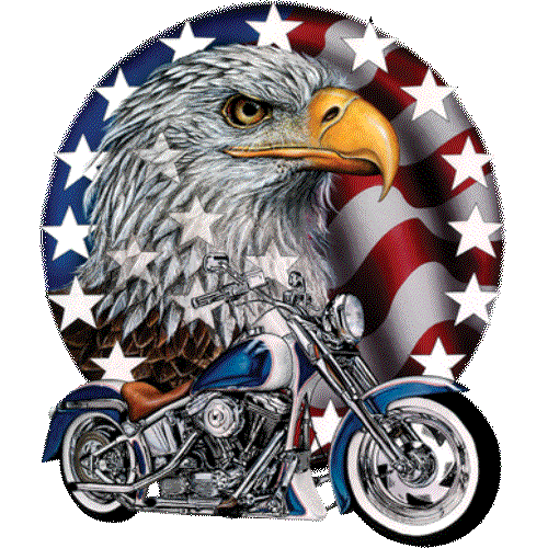 Motorcycle (Red White Bold - Eagle)