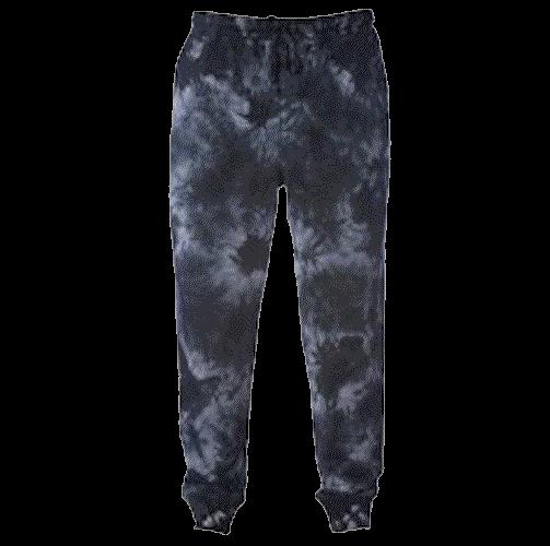 Tie-Dyed Fleece Pants (Black)