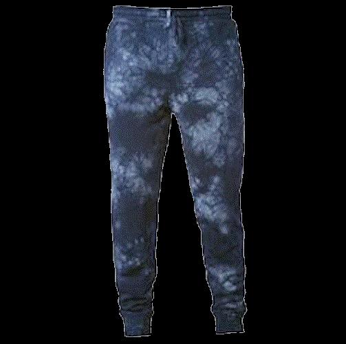Tie-Dyed Fleece Pants (Navy Blue)