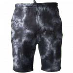 Tie-Dyed Fleece Shorts (Black)