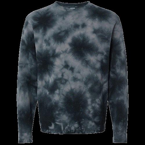 NEW Tie-Dyed (Black) Midweight Sweatshirt