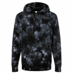 NEW Tie-Dyed (Black) Midweight Pullover Hooded Sweatshirt