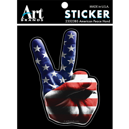 AMERICAN PEACE SIGN TIE DYE STICKERS