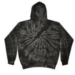 Tie Dye Spider Black Youth Pullover Hooded Sweatshirt