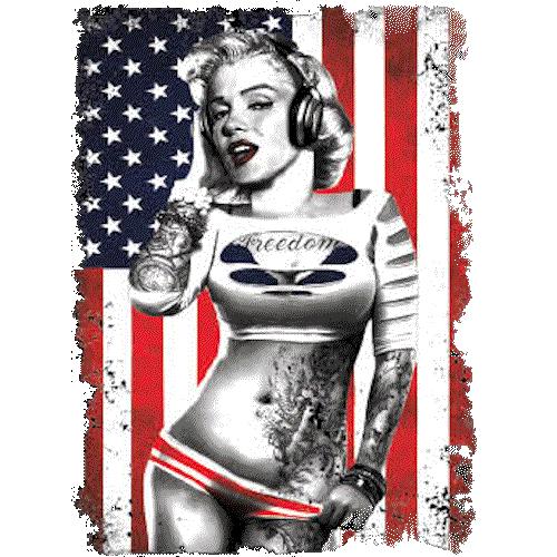 Marilyn Monroe (Flag With Headphones)