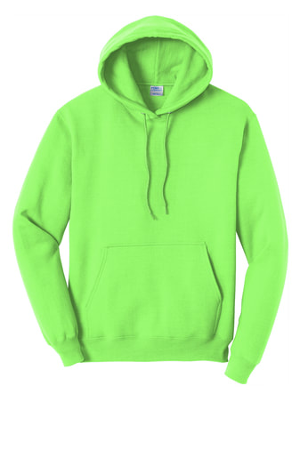 Neon Green Pullover Hooded Sweatshirt