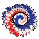 Sunflower (Red White Blue Tie Dye – Flower)