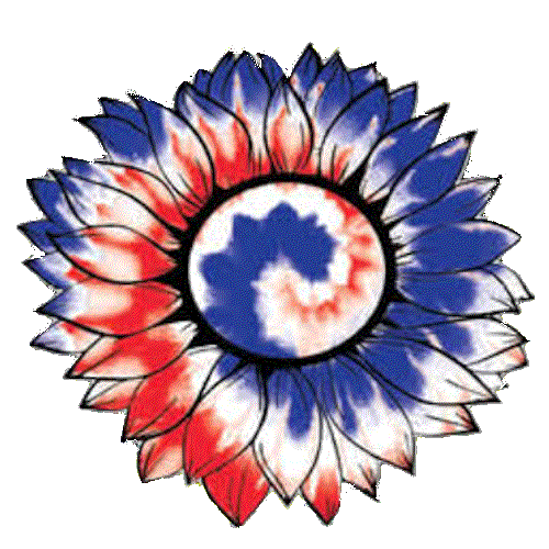 Sunflower (Red White Blue Tie Dye - Flower)